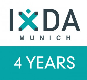 IxDA Munich Logo Birthday 4 years 650x600